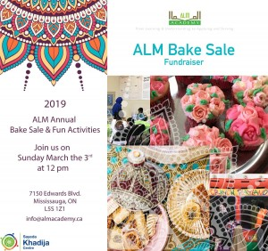 Annual Bake Sale & Fun Day – Mar 3rd 2019